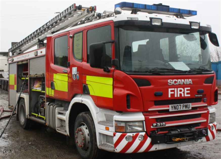 Fire crews deal with hay blaze