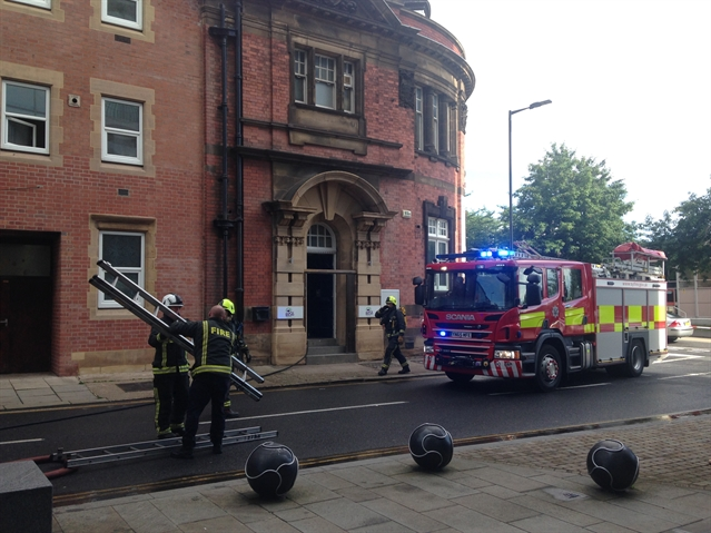 Firefighters called to town centre charity