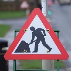Roadworks cause delays on Aston bypass