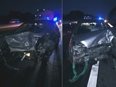 Drivers escape serious injury in M1 crash