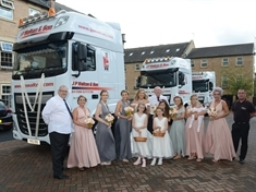 Bride arrives at wedding in 2.5-tonne lorry cab, thanks to Denaby firm