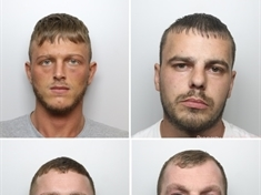 Four jailed after string of burglaries