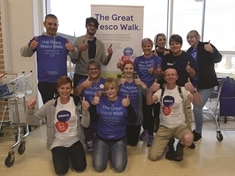 Rotherham's Great Tesco Walk brings in charity cash
