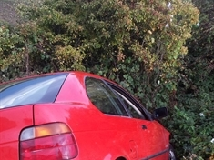 BMW crashes into in ditch in Rawmarsh
