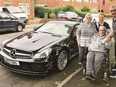 Brain tumour Mexborough car lover has ride of his life