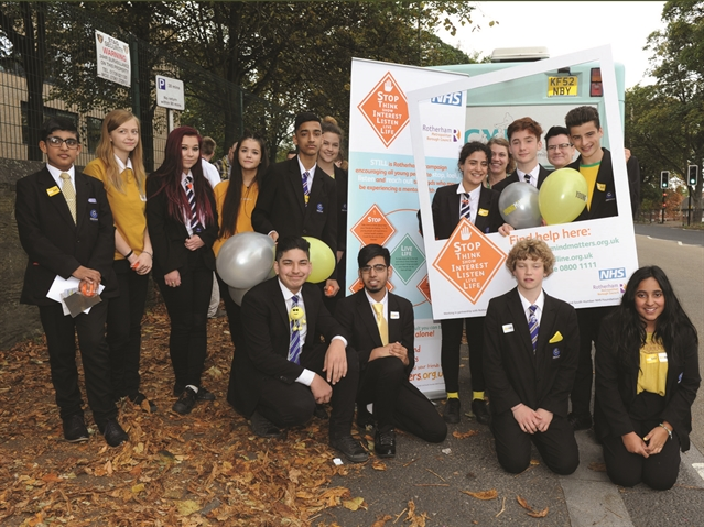'Young Minds' in Rotherham show support for mental health issue sufferers