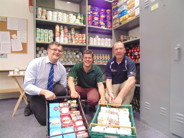 Rotherham food bank boosted by Round Table donation