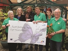 Gardeners help Rotherham Hospital Purple Butterfly Appeal fly