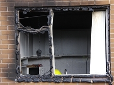 Shed fire spreads to house in Moorgate