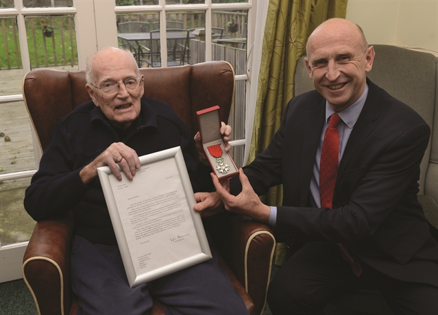 D-Day hero Victor receives France's highest decoration