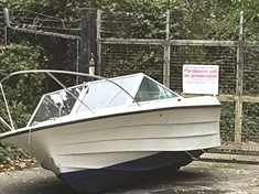 Was fly-tipped boat a disgruntled Bullseye winner?