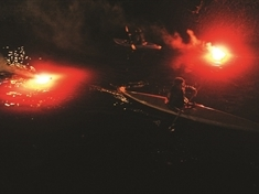 Fire and music combine for River Don spectacular