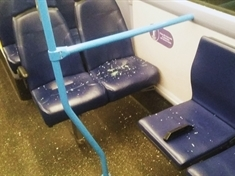 Appeal after vandals pelt bus with stones