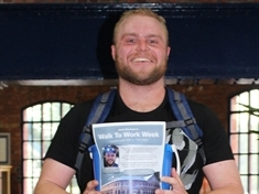 Long walks - and runs - to work help Jack (26) raise £1,700 for charity