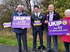 Swallownest travellers' site protest by UKIP members