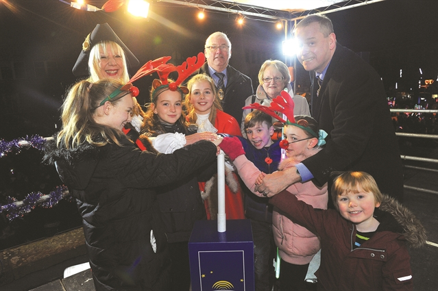 Rotherham lit up for Christmas