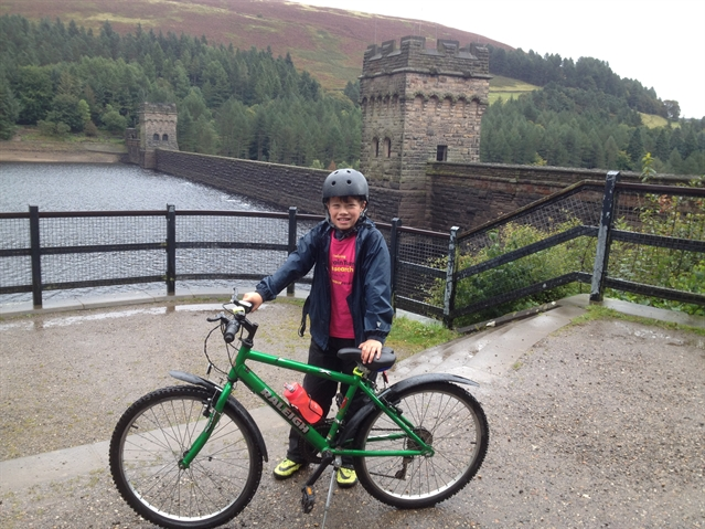 Ten-year-old's 100-mile bike ride raises £500 for Brain Tumour Research