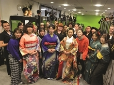 Celebration of Japanese culture prompted by student exchange visit