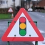 Temporary traffic lights on Aldwarke Lane