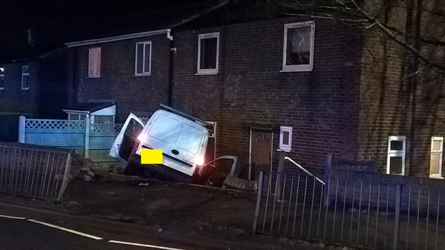 Suspected drink driver crashes van into Rawmarsh garden