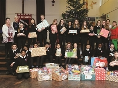 School's hampers bring Christmas cheer to hospital