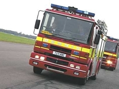 Tractor tyre was set alight