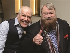 Movie legend Brian Blessed comes home for fund-raising night