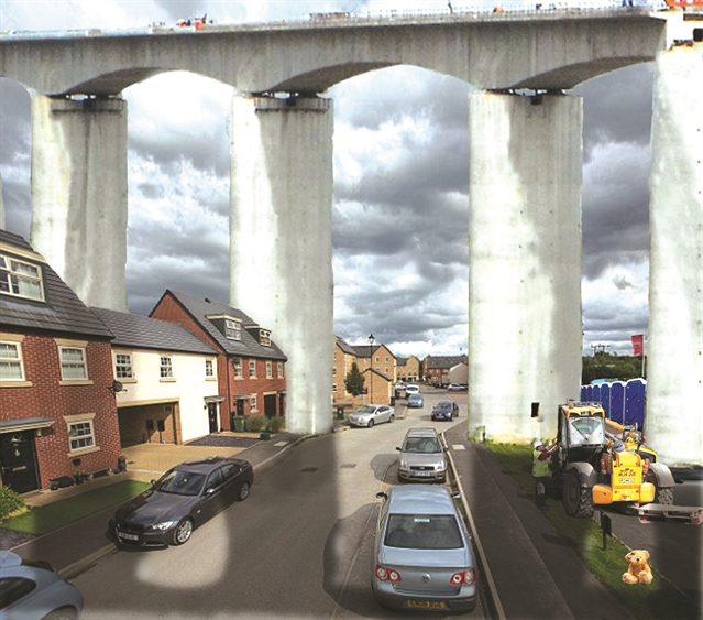 Campaigner's shock images highlight possible HS2 impact on Mexborough estate