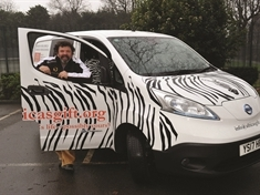 Zebra van driver seeking charity supporters of all stripes