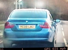 Police seek speeding BMW on 'false plates'