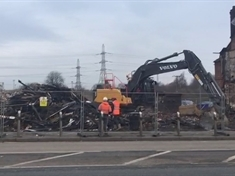 VIDEO: Fire-ravaged Dalton club demolished