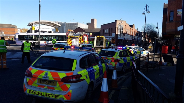 VIDEO: Incident involving bus and pedestrian at Rotherham Interchange