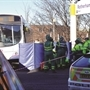 Bus station re-opens after collision involving elderly woman