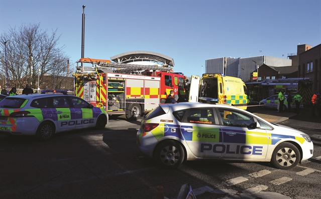 Bus firm assisting police after collision at station