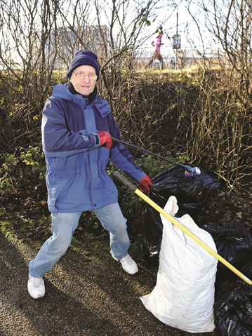 Trevor's campaign to clean up Manvers — all by himself