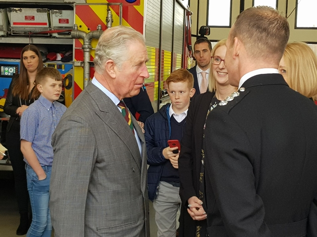 PICTURED: Prince of Wales visits Manvers 999 base to fire up trust