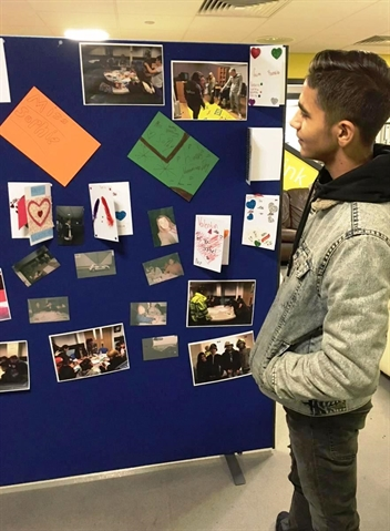 Teenagers showcase police project artworks