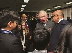 Prince of Wales meets the future stars of steel