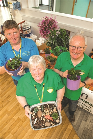 Volunteer gardeners purple plants raise vital finances for Rotherham Hospital and Community Charity