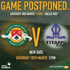 Ealing v Titans is OFF