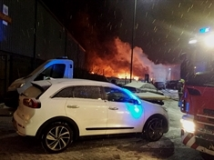 Fire at car compound being 'treated as arson'