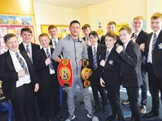 Boxing champ Jamie hopes to inspire school kids