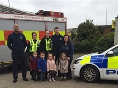 Fire crew and cops pay a visit to Dinnington youngsters
