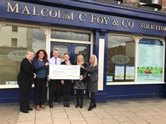 Law-some charity boost from Malcolm C Foy