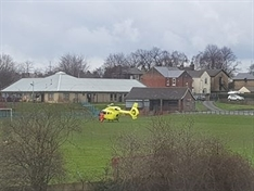 Boy (7) treated by flying docs after car collision