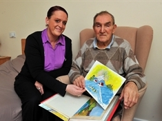 Former footballer thriving in care home gears up for art exhibition