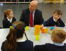 MP's cracking time talking eggs with pupils