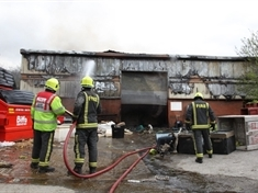PICTURED: Aftermath of fire at Dinnington firm