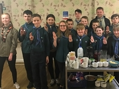 Scouts help out at Parkgate care home