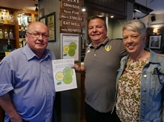 Cancer charity's thank you to beer festival's Wickersley hosts